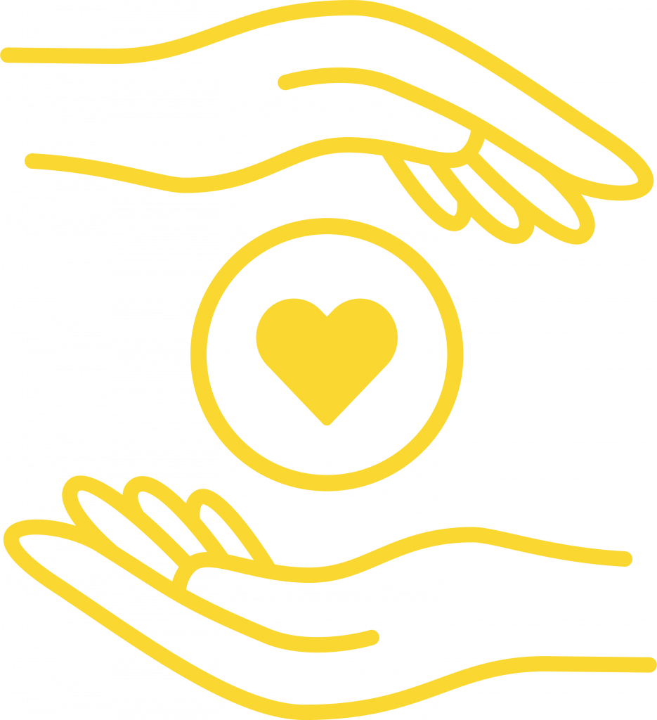 holding heart icon