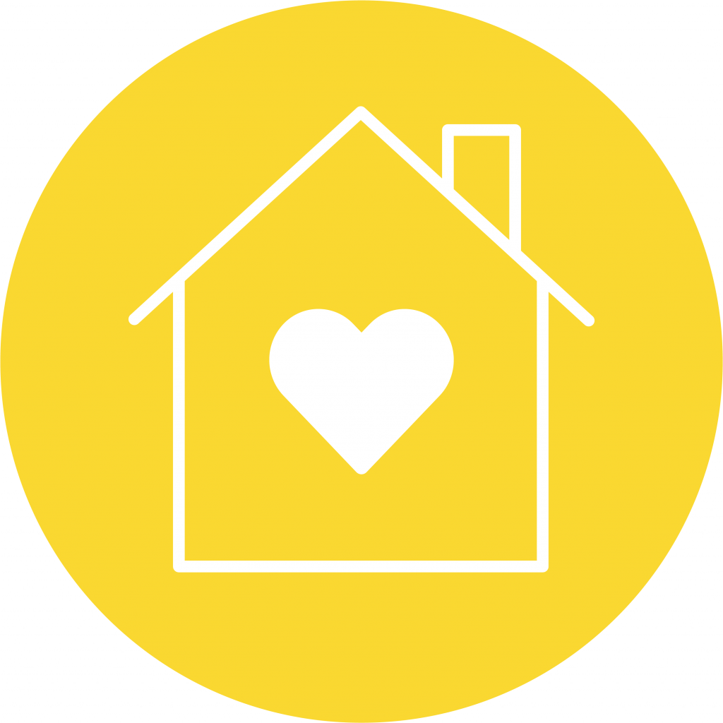 heart house icon