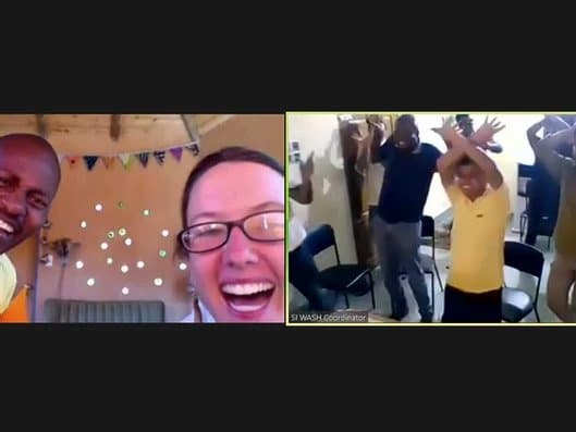 people dancing on a livestream